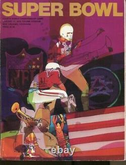 Super Bowl IV 4 Chefs De Programme V Vikings 1/11/1970 Tulane Stadium Ex/mt++