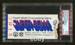 Super Bowl IV 4 Ticket 1970 Chiefs V Vikings Len Dawson Mvp Stade Tulane Psa 2