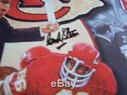 Super Bowl IV Kansas City Chiefs Signés 24x36 Art Imprimer Stram Dawson Artis Proof