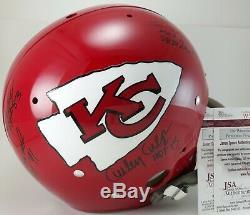 Super Bowl IV Signé Casque 5 Chefs Hof Len Dawson Bobby Bell Équipe Jsa