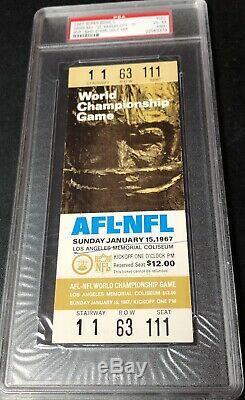 Super Bowl I Pleine De Billets Psa 4 Or Packers Chiefs