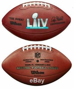 Super Bowl LIV (54) Wilson Officiels Cuir Authentiques Chefs De Football 49ers