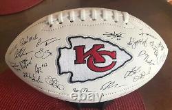 Super Bowl LIV City Chiefs Champions Kansas Autograph Football, Réimprimé Nouveau