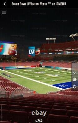 Super Bowl LV 55 Billets Jusqu'à 2 Billets Section 219 Chiefs Bucs 1 Ou 2 Billets