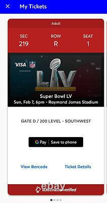 Super Bowl LV Billets (2) Sièges Premium Tampa Bucs Vs Chiefs Brady Vs Mahomes