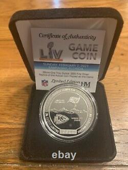 Super Bowl LV NFL 1 Oz Silver Flip Coin Buccaneers Vs Chiefs (faible Taille)