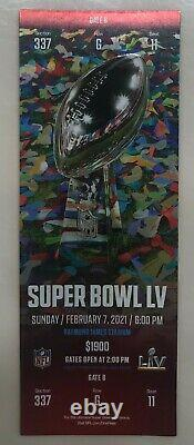 Super Bowl LV Original Ticket+personal Protection Pack Chefs-buccaneers 2/7/21