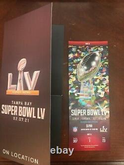 Tacket Stub Super Bowl LV 55 Kansas City Chiefs Vs Tampa Bay Buccaneers 2/7/2021