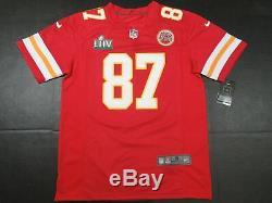 Travis Kelce # 87 Kansas City Chiefs Super Bowl LIV 54 Jeu Limited Jersey Red