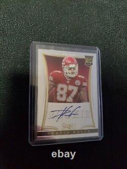 Travis Kelce Auto Rc 2013 Select Rookie #242 /499 Chiefs Super Bowl Auto