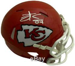 Travis Kelce Autographié Kansas City Chiefs Super Bowl 54 LIV Mini Casque Coa