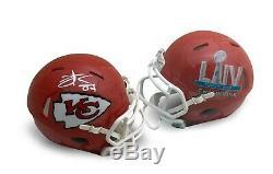 Travis Kelce Autographié Kansas City Chiefs Super Bowl 54 LIV Mini Casque Jsa