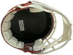 Travis Kelce Chefs Autographiés Super Bowl 54 LIV Full Size Helmet Jsa