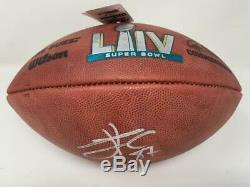 Travis Kelce Chiefs Autographiés Officiel Super Bowl LIV Duke Football Fanatics