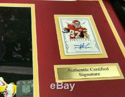 Travis Kelce Chiefs Super Bowl LIV Signé Autographié Carte Encadrée Photo 8x10
