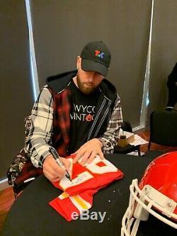 Travis Kelce Signé Jsa Jersey Super Bowl LIV 54 Ville Champions Chiefs De Kansas 87