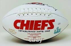 Tyreek Hill Autographié Kansas City Chiefs Superbowl Logo Football Jsa Authen