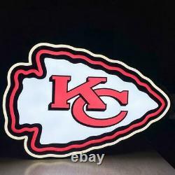 Ue, Kansas City Chiefs 2ft X 2ft, Led Neon Sign, Grotte De L'homme, Sports Bar