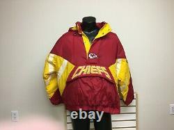 Veste À Capuche De Démarrage Vintage Kansas City Chiefs Puffer Taille X Large Excellente