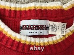 Vintage Rare 80s 90s NFL Kansas City Chiefs Rare Patrick Mahomes Sweater Chemise L